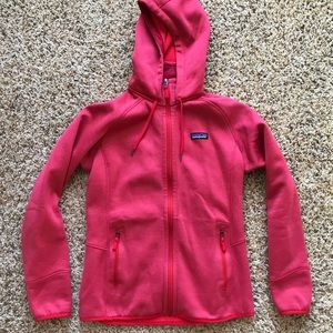 Patagonia full zip fleece lined hooded jacket